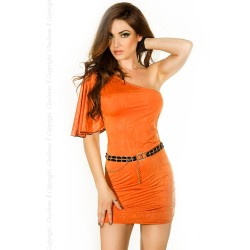DRESS CR-3253 ORANGE