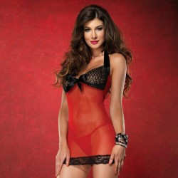 BABYDOLL WITH SEQUINS AND LACE DETAILS