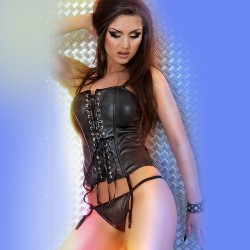 CORSET AND THONG CR-3080