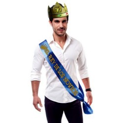 """PARTY BAND AND CROWN """"THE GROOM'S KING"""" IN SPANISH"""