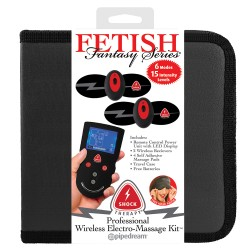 PROFESSIONAL WIRELESS ELECTRO-MASSAGE KIT FETISH FANTASY SHOCK THERAPY