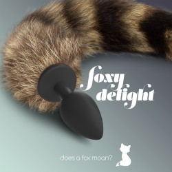 FOXY DELIGHT SILICONE ANAL PLUG WITH TAIL CRUSHIOUS